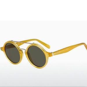 Celine Round Lens Honey Yellow Frame Sunglasses